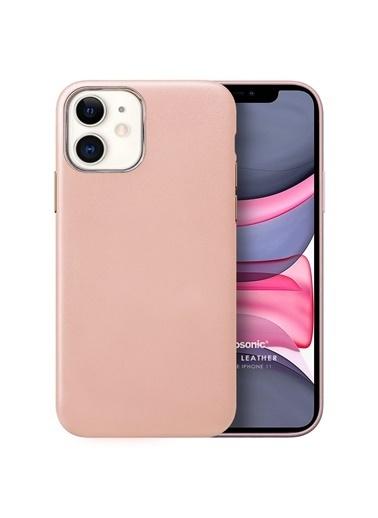 Microsonic Apple iPhone 11 Kılıf Luxury Leather Pudra